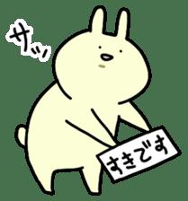 Day-to-day of rabbit sticker #164318