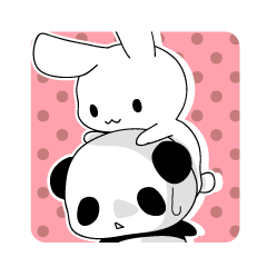 Panda and rabbit