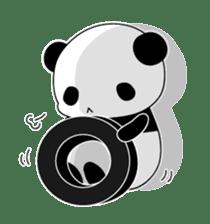 Panda and rabbit sticker #165542