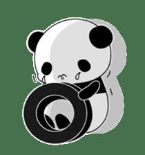 Panda and rabbit sticker #165543