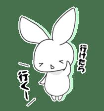 Panda and rabbit sticker #165545
