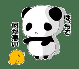 Panda and rabbit sticker #165546