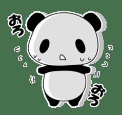 Panda and rabbit sticker #165559
