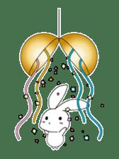 Panda and rabbit sticker #165564