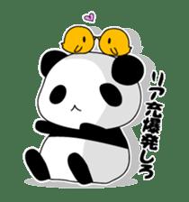 Panda and rabbit sticker #165567