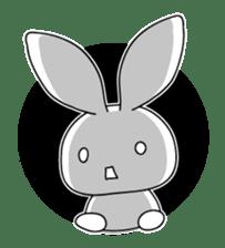 Panda and rabbit sticker #165575