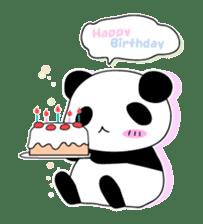 Panda and rabbit sticker #165576