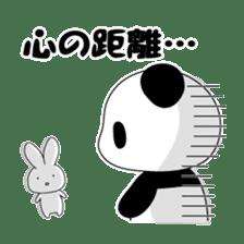 Panda and rabbit sticker #165578