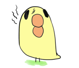 Chick of pouty mouth sticker #165588