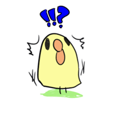 Chick of pouty mouth sticker #165593