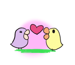 Chick of pouty mouth sticker #165607