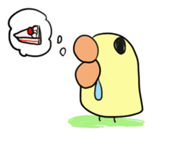 Chick of pouty mouth sticker #165608