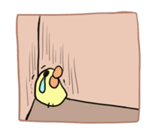 Chick of pouty mouth sticker #165614