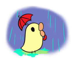 Chick of pouty mouth sticker #165616