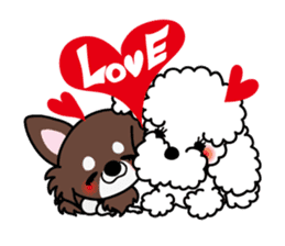 UG U+x+U DOGS (Chihuahua and Poodle) sticker #167664