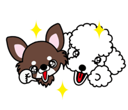 UG U+x+U DOGS (Chihuahua and Poodle) sticker #167669