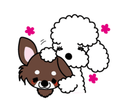 UG U+x+U DOGS (Chihuahua and Poodle) sticker #167674