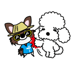 UG U+x+U DOGS (Chihuahua and Poodle) sticker #167693