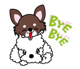 UG U+x+U DOGS (Chihuahua and Poodle) sticker #167697