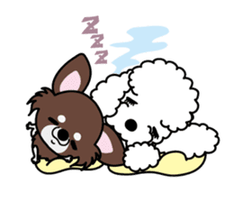 UG U+x+U DOGS (Chihuahua and Poodle) sticker #167698