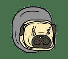 Pugsaku sticker #167928