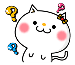A cat and a pudding sticker #168179