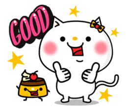 A cat and a pudding sticker #168186