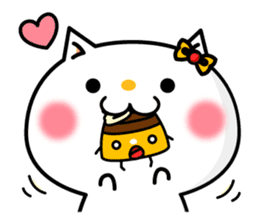 A cat and a pudding sticker #168192