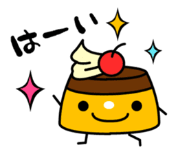A cat and a pudding sticker #168194