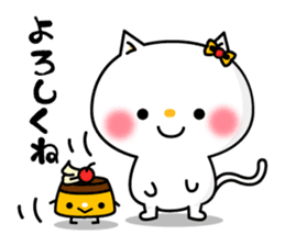A cat and a pudding sticker #168199