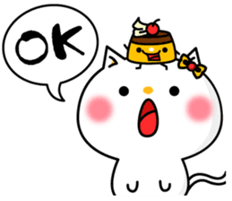 A cat and a pudding sticker #168203