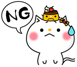 A cat and a pudding sticker #168204