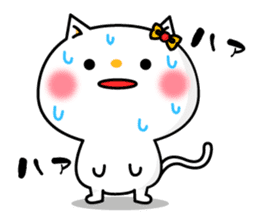 A cat and a pudding sticker #168205