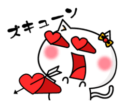 A cat and a pudding sticker #168210