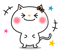 A cat and a pudding sticker #168211