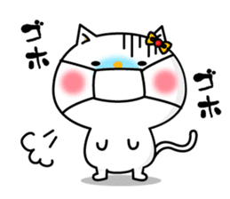A cat and a pudding sticker #168213