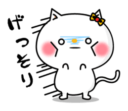 A cat and a pudding sticker #168215