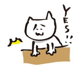 Cat no motivation sticker #168687