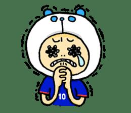 Football Panda sticker #170104