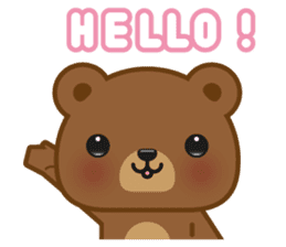Coffee Bear sticker #171005