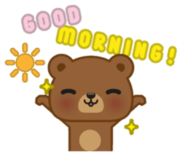 Coffee Bear sticker #171010