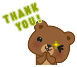 Coffee Bear sticker #171015