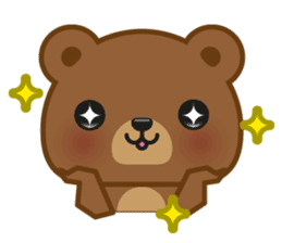 Coffee Bear sticker #171016