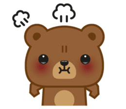 Coffee Bear sticker #171017