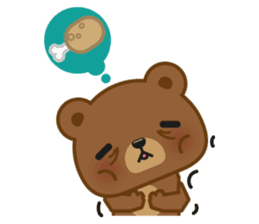 Coffee Bear sticker #171019