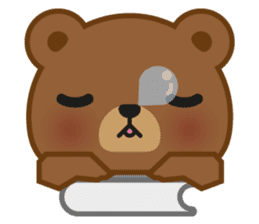 Coffee Bear sticker #171023