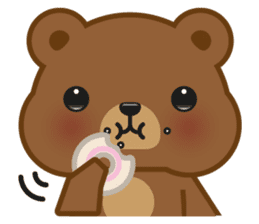 Coffee Bear sticker #171026