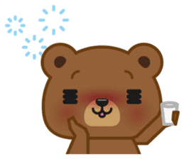 Coffee Bear sticker #171030