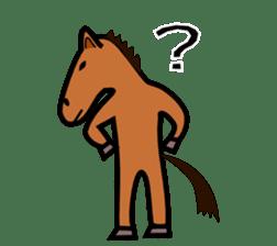 Everyday horse sticker #171126