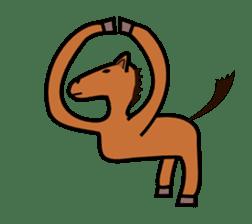 Everyday horse sticker #171128
